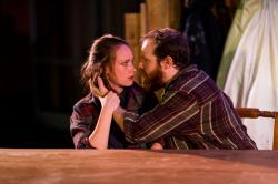 Laura Menzie and Spencer Parli Tew star in 'Brilliant Traces,' continuing through June 12 at Atlantic Wharf