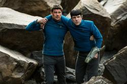 Karl Urban and Zachary Quinto star in 'Star Trek Beyond'