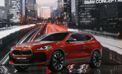 The new BMW X2 concept car at the Paris Auto Show in Paris, France, Thursday, Sept. 29, 2016