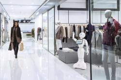 SoftBank Robotics America demonstrates a shopping experience with SoftBank Robotics' humanoid robot called Pepper.