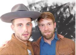 Nico Tortorella, left, and Colby Keller