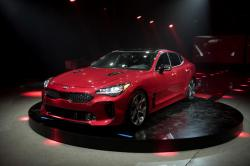 Kia Motors America unveils the 2018 Kia Stinger during the North American International Auto Show in Detroit, Sunday, Jan. 8, 2017