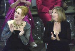 Meryl Streep, left, and Barbra Streisand