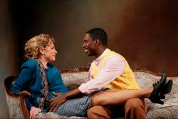 Andrea Syglowski and Sekou Laidlow in the Huntington Theatre Company's production of A Doll's House, directed by Melia Bensussen, playing January 6 - February 5, 2017, Avenue of the Arts/BU Theatre