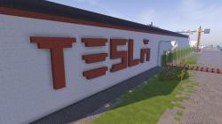 undated photo received on Saturday, Feb. 4, 2017 taken by Darius Kniuksta, a scene from a video game featuring a Tesla gigafactory