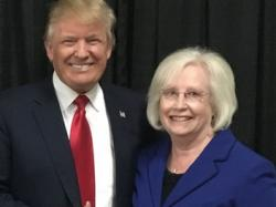 Donald Trump and Mae Beavers