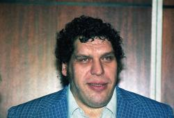 This is a 1988 file photo showing professional wrestler Andre the Giant