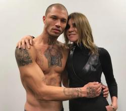 Jeremy Meeks with Carine Roitfeld.
