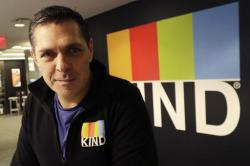 In this Monday, Feb. 6, 2017, photo, Kind CEO Daniel Lubetzky poses for a photo at his office, in New York