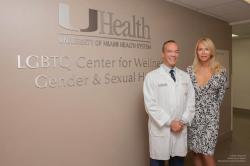 Christopher J. Salgado, M.D., with Lauren Foster