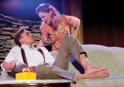 Jed Peterson as Paul de Man and Fleur Alys Dobbins as Mary McCarthy
