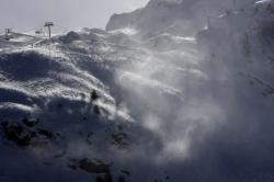 Lavachet Wall at the Tignes ski resort, French Alps.