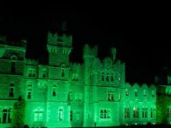 Ireland's Ashford Castle Turns Green for St. Patrick's Day