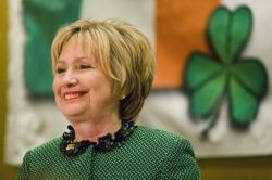 Hillary Clinton speaks at the Society of Irish Women's annual dinner on St. Patrick's Day.