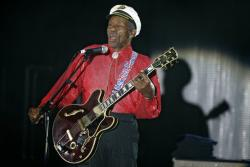 Chuck Berry performs in 2009.