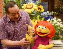 "Julia, a new autistic muppet character debuting on the 47th Season of ""Sesame Street."""