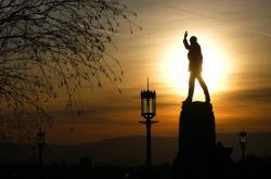 Edward Carson statue at Stormont in Belfast, Northern Ireland.