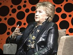 Hillary Clinton spoke at the Professional BusinessWomen of California's conference in San Francisco Tuesday
