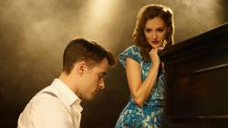 Laura Osnes and Corey Cott