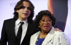 "Prince Jackson, left, and Katherine Jackson arrive at the world premiere of ""Michael Jackson ONE"" at THEhotel at Mandalay Bay Resort and Casino in Las Vegas. (2013)"