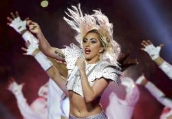 Lady Gaga performs during the halftime show of the NFL Super Bowl 51.