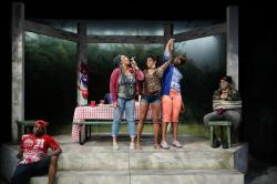 "A scene from ""Barbecue"" at the Lyric Stage Company."