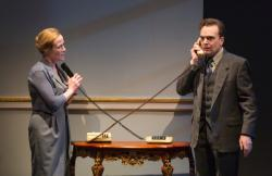 Jennifer Ehle and Jefferson Mays.