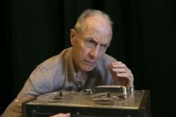 Will Lyman in 'Krapp's Last Tape,' one f three oneact plays showcased in 'Beckett in Brief' running April 27 - May 7 at Sorenson Center for the Arts at Babson College
