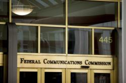 This June 19, 2015, file photo, shows the Federal Communications Commission building in Washington