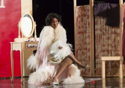"Nicole Heaston in Boston Lyric Opera's new production of ""The Marriage of Figaro"" running through May 7 at John Hancock Hall."
