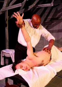 Damon Singletary and Sam Terry in 'Desire Quenched by Touch,' one of the six short plays based on Tennessee Williams short stories that comprise 'Desire'