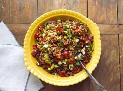 Cooking on Deadline: Mediterranean Tomato Wheat Berry Salad
