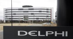 In this March 22, 2006, file photo, Delphi's World Headquarters is shown in Troy, Mich.