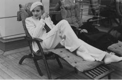 Marlene Dietrich on the SS Europa, 1933, Cherbourg, France