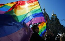 2013 LGBT rights demonstration in St Petersburg, Russia