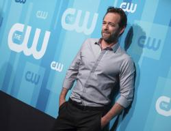 Luke Perry attends the CW Network 2017 Upfront presentation.