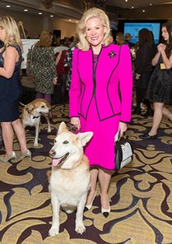 Patrons and their pooches at the 2017 'Petchitecture' at the Fairmont Hotel. Dede Wilsey and Memphis; Tal Tamir and Samantha; Mark Vincent, Audrey Pouligny and a cute poodle. photos: Ando Caulfield for Drew Altizer Photography. www.drewaltizer.com   Don't miss Spotlight on Broadway at the Sir Francis Drake Hotel with the San Francisco Lesbian/Gay Freedom Band, Saturday May 20