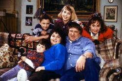"The cast members of ""Roseanne,"""