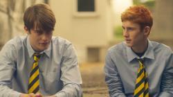 "Nicholas Galitzine and Fionn O'Shea in ""Handsome Devil"""