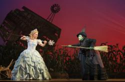 Ginna Claire Mason and Jessica Vosk in 'Wicked'