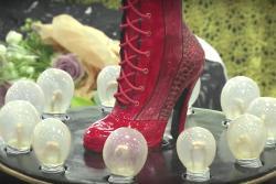 Ashley Holt's award-winning 'Kinky Boots' cake.