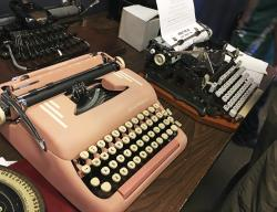 "Vintage typewriters are on display at a ""type-in"" in Albuquerque, N.M."