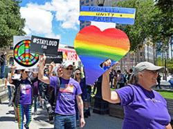 Participants walked in the San Jose Equality March for Unity and Pride June 11