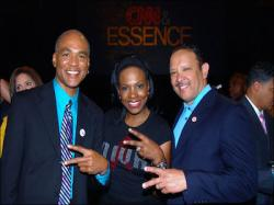 Phill Wilson, Sheryl Lee Ralph and Benjamin Jealous at a previous Essence Festival in New Orleans