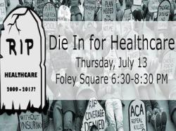 Women's March Alliance Holds July 13 Die-In for Healthcare