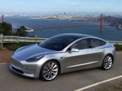 The Tesla Model 3 sedan.
