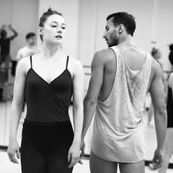 Chloe Perkes and Richard Villaverde rehearse 'Beautiful Once'