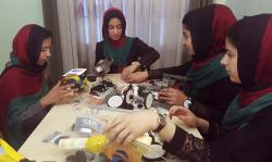 Teenagers from the Afghanistan Robotic House