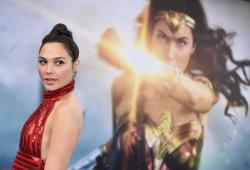 "Gal Gadot arrives at the world premiere of ""Wonder Woman"" in Los Angeles."