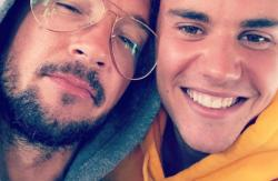 Carl Lentz (left) with Justin Bieber